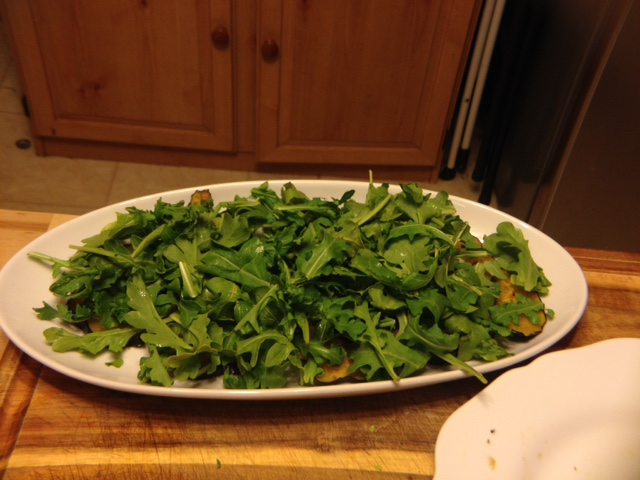 Layer of arugula
