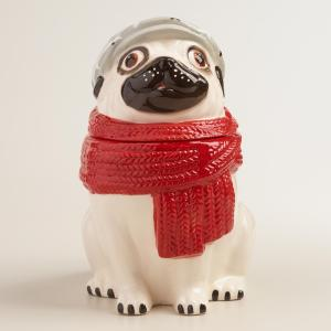 creepy dog cookie jar