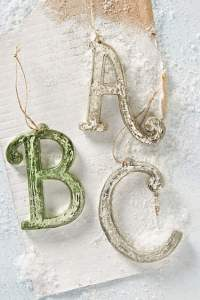 mercury letter ornaments