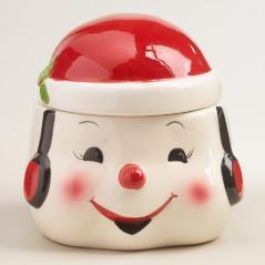 weird snowman cookie jar