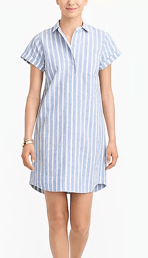 J Crew Striped linen shirtdress