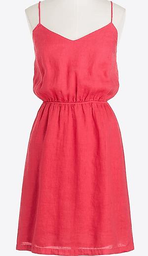J Crew Linen cami dress